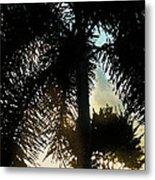 Tropical Silhouette Metal Print