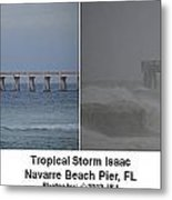 Tropical Storm Isaac Difference In A Day Metal Print