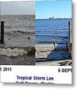 Tropical Storm Lee Difference A Day Makes Metal Print