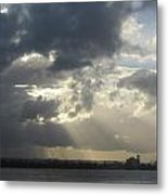 Tropical Stormy Sky Metal Print