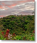 Tropical Sunset Landscape Metal Print