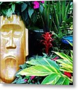 Tropical Tiki Metal Print