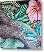 Tropical Tree Frog Metal Print