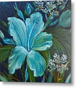 Tropical Turquoise Metal Print