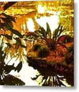 Tropical Water Garden Metal Print
