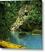 Tropical Waterfall Metal Print by Jennifer Burley