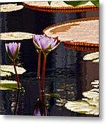 Tropical Waters Floral Charm Metal Print