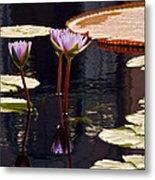 Tropical Waters Floral Charm -- Version 2 Metal Print