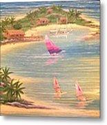 Tropical Windy Island Paradise Metal Print