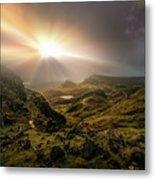 Trotternish Ridge Light #3 Metal Print