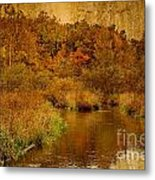 Trout Stream Textured Metal Print