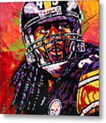 Troy Polamalu Metal Print by Maria Arango