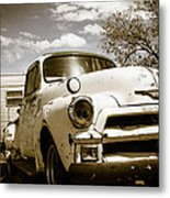 Truck And Trailer Metal Print
