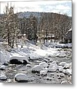 Truckee River At Christmas Metal Print by Denice Breaux