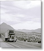 Trucking Across America Metal Print