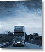 Trucking Late At Night Metal Print