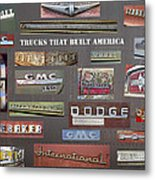 Trucks That Built America Metal Print