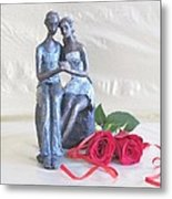 True Love In Silver Metal Print