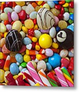 Truffles And Assorted Candy Metal Print