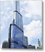 Trump Tower 3 Letter Signage Metal Print