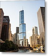 Trump Tower And Downtown Chicago Buildings Metal Print