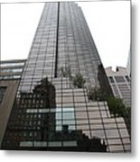 Trump Tower Reflection New York Metal Print