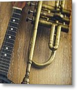 Trumpet And Banjo Metal Print