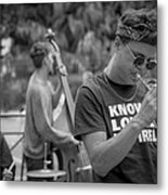 Trumpet In The Big Easy Metal Print by David Morefield