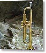 Trumpet N Canvas Metal Print