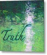 Truth - Emerald Green Abstract By Chakramoon Metal Print