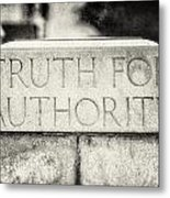 Truth For Authority Lucretia Mott  Metal Print