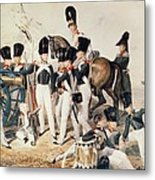 Tsarevich Alexander 1818-81 With His Cadets At Peterhof, C.1823 Wc On Paper Metal Print