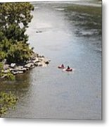 Tubing On The Potomac River At Harpers Ferry Metal Print