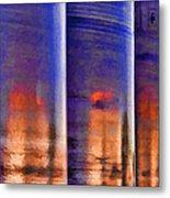 Tubular Sunset Metal Print