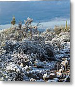 Tucson Covered In Snow Metal Print