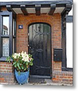 Tudor Cottage Doorway Metal Print