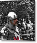 Tudor Knight In Armor  V1 Metal Print