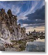 Tufas And Clouds Metal Print