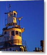 Tug Boat At Dawn, Cape Ann, Gloucester Metal Print