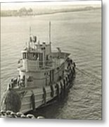 Tug Boat In Puerto Rico 1956 Metal Print
