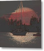 Tug Boat Pulls More Than Its Weight Metal Print