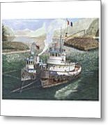 Gale Warning Safe Harbor Metal Print