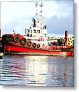 Tugboat Captain Metal Print