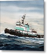 Tugboat Island Champion Metal Print