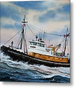 Tugboat Island Commander Metal Print