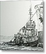 Tugboat Richard Foss Metal Print