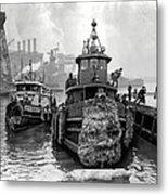 Tugboat Winter  1946 Metal Print