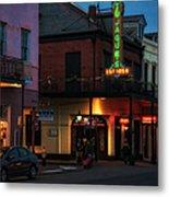 Tujagues At Night In New Orleans Metal Print