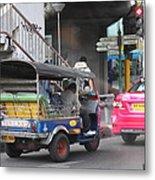 Tuk Tuk - City Life - Bangkok Thailand - 01131 Metal Print by DC Photographer
