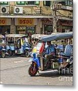 Tuk Tuk Taxis In Bangkok Thailand Metal Print